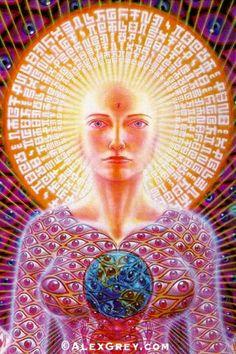 The official website of visionary artist Alex Grey. Alex Grey, Alex Gray Art, Psychedelic Art, Psychedelic Experience, Chakras, Sacred Feminine, Process Art, Visionary Art, Spirituality
