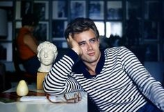 James Dean in stripes