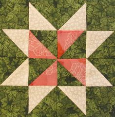 The Quilt Ladies Book Collection: Star Block Pattern of the Month - #7