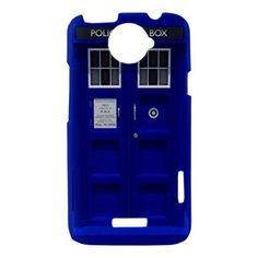 HTC Case Blue Tardis Dr Who HTC One X Case Cover Hard Case Hardshell Case Doctor Who Tardis. AH