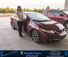 https://flic.kr/p/Ec7ERZ | Happy Anniversary to Lauren on your #Honda #Civic Sedan from Jim Rutelonis at Honda Cars of Rockwall! | deliverymaxx.com/DealerReviews.aspx?DealerCode=VSDF