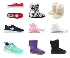 """""""my kind of shoes"""" by victoriahix on Polyvore featuring M&Co, Vans, Converse, NIKE and UGG Australia"""
