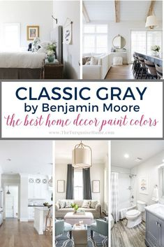 The Best Home Decor Paint Colors Off White Paints, Best White Paint, White Paint Colors, Paint Colors For Home, House Colors, Gray Paint, Popular Paint Colors, Favorite Paint Colors, Benjamin Moore Classic Gray