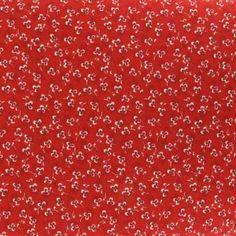Tissu Rouge trèfles