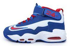 14b4c4e424 Mens Nike Air Griffey Max 1 White/Game Royal-Varsity Red Jordan Shoes For