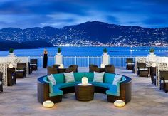 St Thomas Luxury Resort terrace