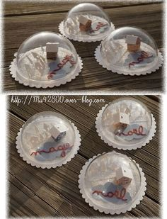 [ Noël ] Déco demi boules transparentes - My sweet trio cadeaux décoration Classy Christmas, Christmas Makes, Christmas Tag, Xmas Baubles, Diy Christmas Ornaments, Christmas Decorations, Diy Christmas Gifts For Friends, Christmas Crafts For Gifts, Deco Table Noel