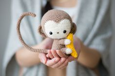 I'm not very skilled at amigurumi but this is worth a try! Crochet Kiko the kawaii baby monkey just in time for Lunar New Year! Detailed step-by-step tutorial & FREE PATTERN available! Crochet Diy, Crochet Amigurumi, Amigurumi Patterns, Crochet Crafts, Crochet Dolls, Yarn Crafts, Crochet Patterns, Crochet Monkey Pattern, Cat Amigurumi