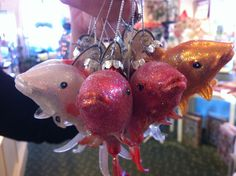 This koi fish were so popular in the Dominion GardenFest of Lights display that people kept asking for them in our shop. So, we ordered them! $9.95 each.