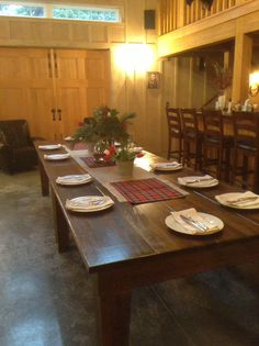 Christmas Dinner Party in the barn