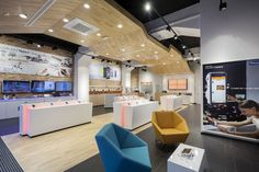 Wood, open space, communication and special lightning are all the elements of sucess of this smartfone centre.  Check out how we integrated this retail space with the street: http://www.brigada.hr/projects/smartson/