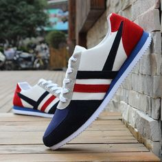 New Men's Fashion Sneakers Casual Sports Athletic Breathable Running Shoes Casual Leather Shoes, Casual Sneakers, Casual Shoes, Men's Sneakers, New Mens Fashion, Mens Fashion Shoes, Men's Fashion, Shoe Sites, Shoe Pattern