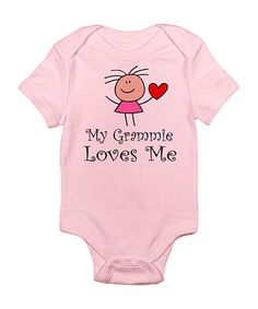 Take a look at this CafePress Petal Pink 'Grammie Loves Me' Bodysuit - Infant by CafePress on #zulily today!