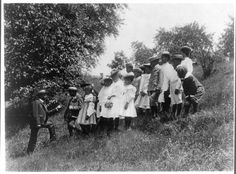 School Children on a Field Trip by Frances Benjamin Johnston