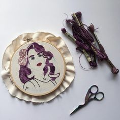 The end is in sight! I've been putting this Lana del Rey hoop on the back burner to work on orders but finally picked it back up this weekend