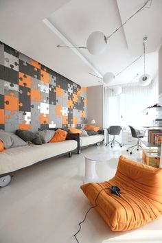 33 Cool Geometric Living Room Design Ideas To Rock stylish geometric decor ideas Game Room Design, Kids Room Design, Apartment Interior, Apartment Design, Apartment Movers, Duplex Apartment, Apartments, Living Room Grey, Living Room Decor