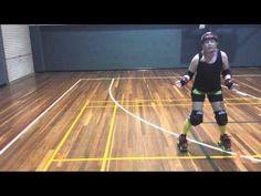 Roller Derby Lessons Fresh Meat - Footwork & Stability - Lesson 7 - By The Squish - YouTube