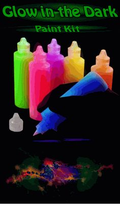 This would be fun for the Never Land 5ks since they're dark.  Let it glow.   Fun for glw run. Super Glow in the Dark Paint