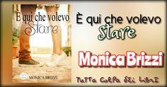 Segnalazione Made in Italy --->> E' qui che volevo stare di Monica Brizzi