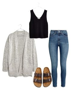 """""""Cool day"""" by katiebug1031 on Polyvore featuring Madewell and Birkenstock"""