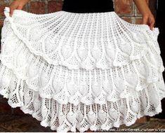 "Photo from album ""КРЮЧОК"" on Yandex. Lace Shorts, White Shorts, Crochet Skirts, Crochet Projects, Charts, Knitting, Beautiful, Patterns, Yandex Disk"
