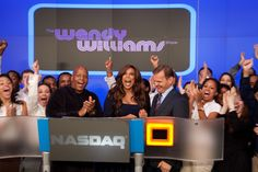 Wendy Williams ringing the Nasdaq Bell! #WendyWilliams