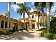Yes, that is a house.  Awesome entry in Mediterra home Naples, FL.