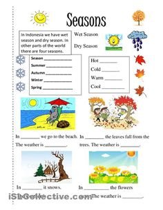 Season worksheet - Free ESL printable worksheets made by teachers