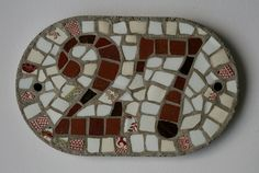 Two digit house number plaque in terracotta made for  by ehmosaics, $41.50