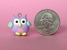 Kawaii Polymer Clay Owl Charm by PixieAddictions on Etsy $3