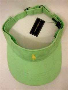 Polo Ralph Lauren Lt Green One Size Classic Chino Adjustable Logo Pony Visor NWT