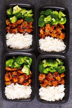 Teriyaki Chicken Meal Prep TipBuzz Recipe, – Healthy Recipes – Famous Last Words Quick Healthy Breakfast, Healthy Meal Prep, Healthy Snacks, Healthy Recipes, Easy Meal Prep Lunches, Fitness Meal Prep, Meal Prep Dinner Ideas, Healthy College Meals, Keto Recipes
