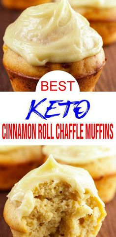 These cinnamon roll muffin chaffles are so tasty. Easy keto recipe that is healthy, sugar free, gluten free & low carb. Great as quick snacks ideas, keto desserts… Fun Easy Recipes, Recipes For Beginners, Low Carb Recipes, Easy Meals, Healthy Recipes, Keto Desserts, Keto Snacks, Keto Foods, Keto Meal