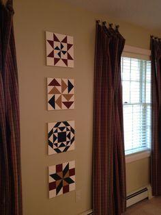 Painted quilt block