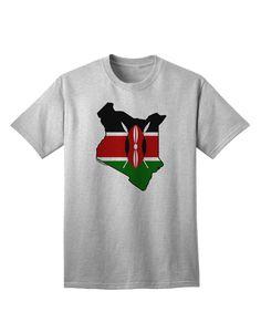 TooLoud Kenya Flag Silhouette Adult T-Shirt