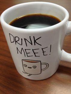 Definitely need my coffee today! Coffee Talk, Coffee Is Life, I Love Coffee, Black Coffee, Coffee Break, My Coffee, Coffee Drinks, Morning Coffee, Coffee Cups