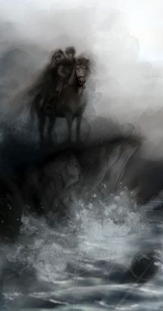 I think that this might be fan art for The Scorpio Races...beautiful