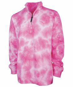Pink Tie Dye 1/4 Zip Sweatshirt Tie And Dye, Tie Dye, Alpha Kappa Alpha, Monogram Styles, Fit Women, Pullover, Unisex, Sweatshirts, How To Wear