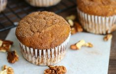This is a sponsored conversation written by me on behalf of Mott's. The opinions and text are all mine #MottsAppleswap Cinnamon pumpkin muffins filled with the flavors of fall and made with Mott's…