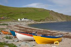 Local boats on Norwick beach in Unst