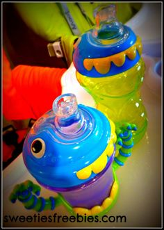 Self Feeding Fun for Babies with iMonster No-Spill Cups #baby #kids