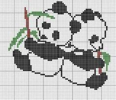 Grilles des ours et des pandas ! Cross Stitch For Kids, Cross Stitch Boards, Cross Stitch Baby, Cross Stitch Animals, Cross Stitching, Cross Stitch Embroidery, Embroidery Patterns, Hand Embroidery, Cross Stitch Designs