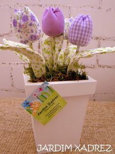 Vaso de Tulipa de Tecido