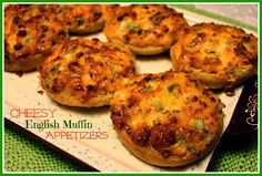 Sweet Tea and Cornbread: Cheesy English Muffin Appetizers!