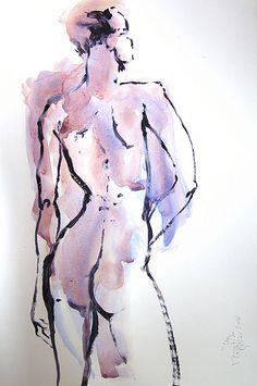 Women water color