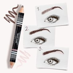 Brows in need of a little lift? We have the perfect thing...our Arch Rival Shape & Highlight duo brow pencil   Step 1: using the darker end work on your outer arch. Step 2: Then with the same end do upward strokes in the centre of your eyebrow. Step 3: finish by using the highlight end to highlight under the brow #selfiereadybeauty