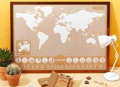 Mergi la drum cu Harta Stamp Map! Ia-ti biletul de avion, entuziasmul si, desigur, harta, si zboara spre destinatia visata. Daca ai primit-o cadou de la iubita, ar fi dragut sa mergeti impreuna. Sa explorati, sa va distrati, stiti voi mai bine. Have fun, exploratorule! O poti agata in orice spatiu al casei cu ajutorul unei rame magnetice. Agate, Vintage World Maps, Stamp, Stamps, Agates