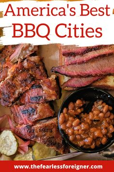 The Best BBQ Cities in America - The Fearless Foreigner Bbq Places, Best Places To Eat, Pork Ribs, Pulled Pork, Pork Brisket, Bbq City, California Food, Texas Bbq, Drinking Around The World