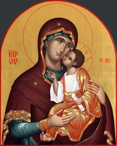 This item is unavailable Byzantine Icons, Byzantine Art, Religious Icons, Religious Art, Mother Mary, Mother And Child, Madonna, Architecture Religieuse, Orthodox Christianity