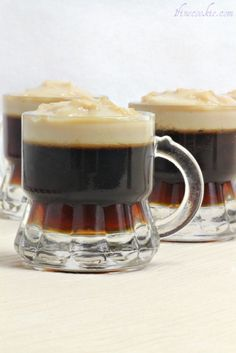 guiness jello shots with a baileys cream top. hmmm???..sounds like a perfect idea when camping..